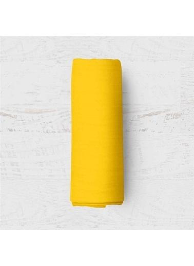 Maki    Sarı Tek Kişilik Lastikli Çarşaf Takımı Sarı